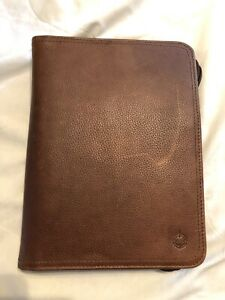 Franklin Covey Classic Brown Leather Binder
