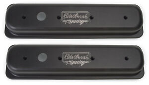 Edelbrock Racing 41723 Sbc Center Bolt V S V C S Valve Covers Short Black