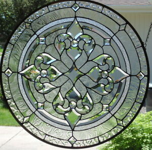 Stained Glass Window Hanging 28 3 4 Diameter