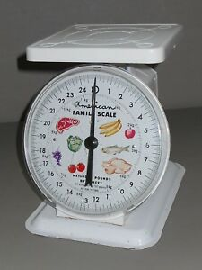 Antique American Family Scale 25 Lb Kitchen Counter Top Scale Metal