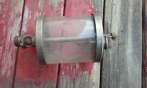 Large Vintage Brass Oiler Hit Miss Engine cylinder Is 4 25 Tall
