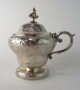 Paul Storr Mustard Pot Crest Arm And Axe Georgian Solid Sterling Silver 1826