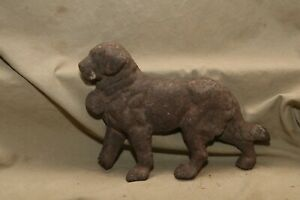 Antique Cast Iron St Bernard Dog Doorstop Remnant Architectural Remnant W Loss