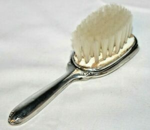 Antique Sterling Silver Baby Hair Brush Rattle 32 4 Grams No Monogram Great