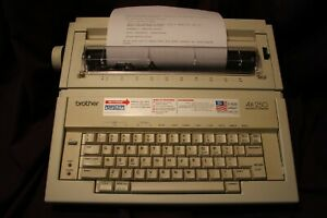 Brother Ax 250 Correcting Electronic Typewriter Daisy Wheel Portable Working