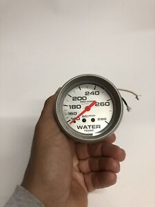 Autometer Ultra Lite Mechanical Water Temp Gauge 2 5 8 Dia 4431 Used 4431