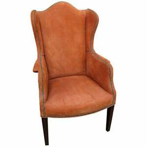 Suede Wingback Chair