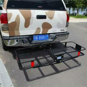 Fold Up 60 Cargo Carrier Up To 500lbs Basket Luggage Rack Fit 2 Receiver Hitch