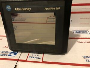 Allen Bradley 2711 t6c16l1 b Panelview 600 Color Touch Frn 4 46 Nice Condition