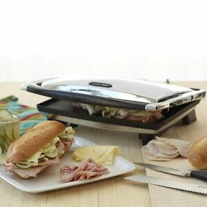 Panini Press Non stick Sandwich Grill Electric Indoor Stainless Steel Cooking