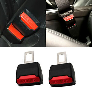 2x Car Safety Seat Belt Buckle Alarm Eliminator Extension Clip Fault Canceller