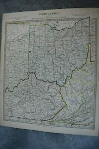1833 Sduk Map Of Ohio With Parts Of Kentucky Virginia
