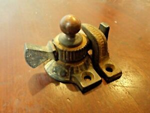 Antique 1880s Victorian Eastlake Aesthetic Movment Cast Iron Window Sash Locks
