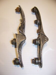 1937 Plymouth Sedan Trunk Lid Hinges 742854 742855 Dodge Chrysler Desoto 38 39