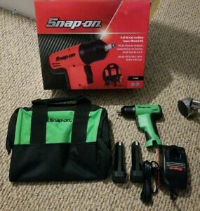 New Snap On Tools Ct596g 9 6v Ni Cad Cordless 3 8 Impact Wrench Green