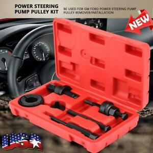 Power Steering Pump Pulley Kit Puller Remover Installation Tool Set For Gm Ford