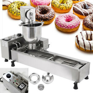 3kw Commercial Automatic Donut Maker Making Machine W 3 Free Mold Wide Oil Tank