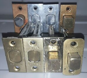 Lot Of 8 Vintage Deadbolt Latches 4 Schlage 3 Dexter 1 Falcon