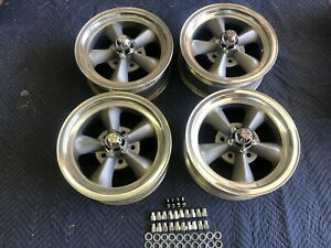Rare 4 Vintage Real Appliance Torque Thrust d Wheels 6 4 3 4 Chevy Crows