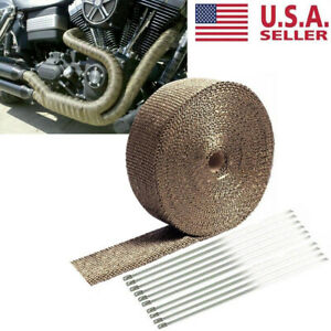 1 Roll Thermal Header Pipe Tape Titanium Lava Exhaust Wrap 1 X 50ft Ties Kit