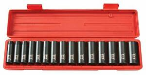 15pcs 1 2 inch Drive Deep Impact Socket Set 10 24 Mm tekton 4883