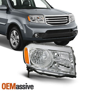 For 2012 2013 2014 2015 Honda Pilot Halogen Chrome Headlight Passenger Right