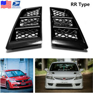 2pcs Universal Rr Type Car Hood Vents Scoop Bonnet Air Vents Air Flow Vent Duct