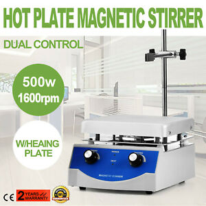 Sh 3 Hot Plate Magnetic Stirrer Mixer Stirring Digital Display Liquid Mixing
