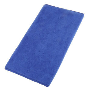 Blue Vehicle Car Wash Microfiber Towel Cleaning Drying Cloth Universal