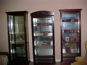 3 Curio Cabinets 13 More Nice Display Cases Vitrines Chest Of Drawers Bookcases