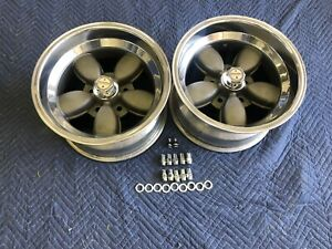 Vintage Pair Of American Racing Daisy Style Wheels 15x8 5 Chevy 5 On 4 3 4