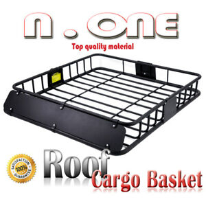 Universal Rooftop Rack Luggage Basket Cargo Carrier Storage Win