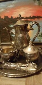 Silver Plated 11 Pc Towle Tea Coffee Service Set