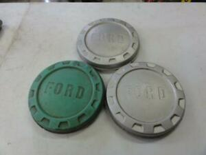 Lot Of 3 Vintage 1961 1966 Ford Truck Hubcaps Poverty Dog Dish F100