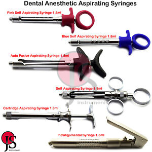 Dental Anesthetic Aspirated Syringes 1 8ml Self Aspirating Anesthesia Dentist