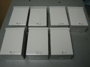lot Of 7 6 X 4 X 3 Junction Box Electrical Enclosure Metal