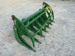 John Deere Tractor Loader Attachment 72 Root Rake Clam Grapple Ship 199