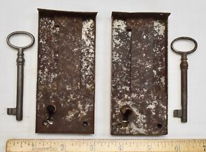 Pair Of Antique Locks And Keys For Drawers For Antique Furniture Restoration