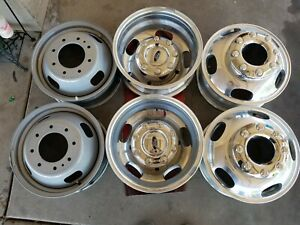 17 Ford F350 F450 Dually Drw Oem Factory Wheels Rims With Caps Set Of 6