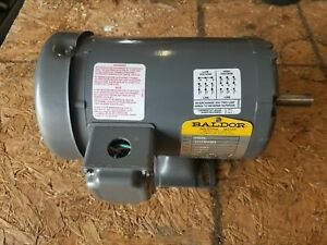 Baldor 1 Hp Industrial Electric Motor 1725 Rpm 3 Phase 56hz Frame 60 Hz 3 Phase