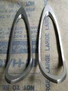 1956 Dodge Coronet Tail Fin Bezels Need To Be Rechromed Painted Silver
