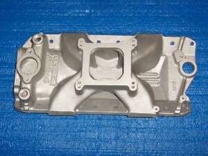 Edelbrock Victor Jr 2975 Small Block Chevy Intake Manifold 283 302 327 350