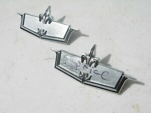 Nos 1971 1972 Chevy Caprice Roof Sail Panel Emblems 9856613 Gm