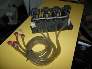 Flojet N5000 Beverage Pumps Lot Of 4 With Bracket And Hoses