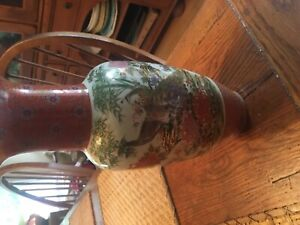 Chinese Antique Famille Rose Porcelain Flower And Bird Vase