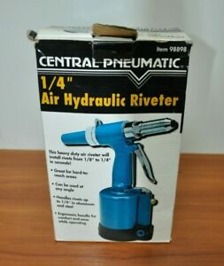 Central Pneumatic 1 4 Inch Air Hydraulic Riveter Used 120psi