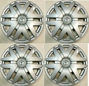 4 New 16 Hub Cap Silver Fits 2008 2009 2010 2011 Toyota Sienna Wheel Cover