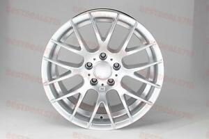 18 Hyper Silver Csl M3 Style Wheels Rims Fits Bmw 3 Series Awd Rwd Staggered