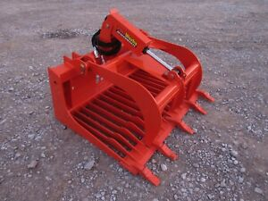 Kubota Tractor Skid Steer Attachment 48 Rock Bucket Tooth Grapple Free Ship