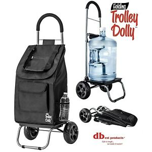 Grocery Cart With Wheels Collapsible Foldable Shopping Utility Trolly Handcart